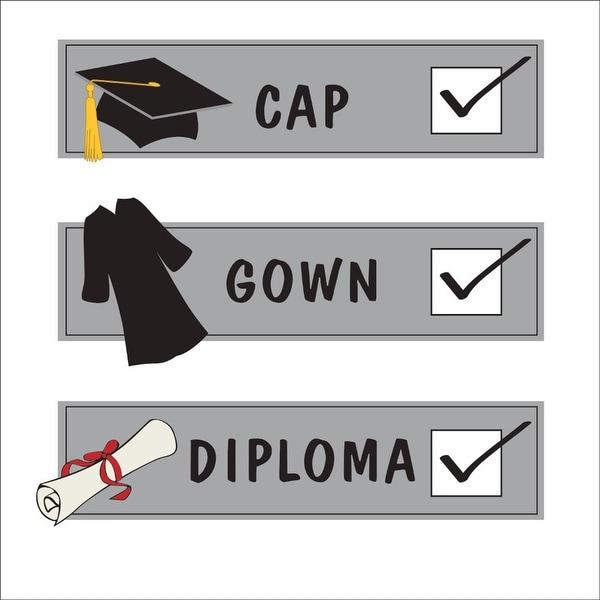Club Pack Of 192 Cap Gown Diploma Graduation Checklist Tassel