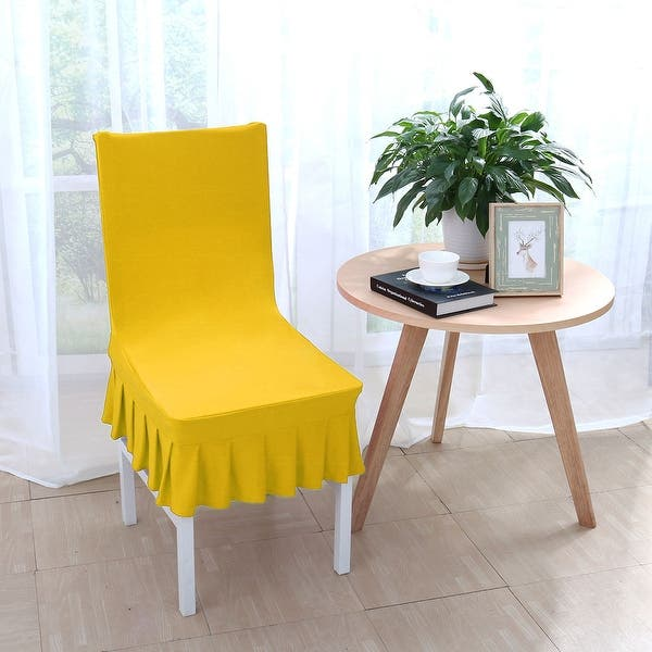 Superb Shop Stretchy Thicken Plush Short Dining Room Chair Covers Squirreltailoven Fun Painted Chair Ideas Images Squirreltailovenorg