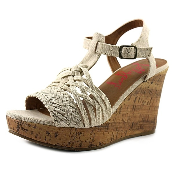 Jellypop Essie Women Open Toe Canvas Wedge Sandal