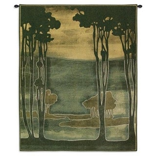 Fine Art Tapestries 5721-WH Nouveau Trees I Wall Tapestry