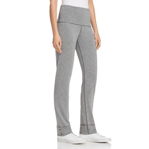 Splendid Women's Heathered High Waist Contrast Trim Activewear Sweatpants - Grey
