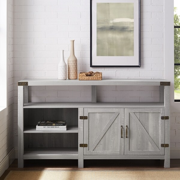 The Gray Barn Firebranch 58-inch Barndoor TV Console. Opens flyout.