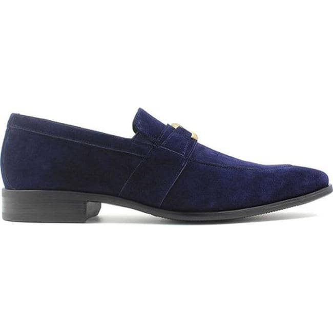 6cac2d8bd2d Shop Stacy Adams Men s Mandell Loafer 25107 Navy Suede - Free Shipping  Today - Overstock - 18531280