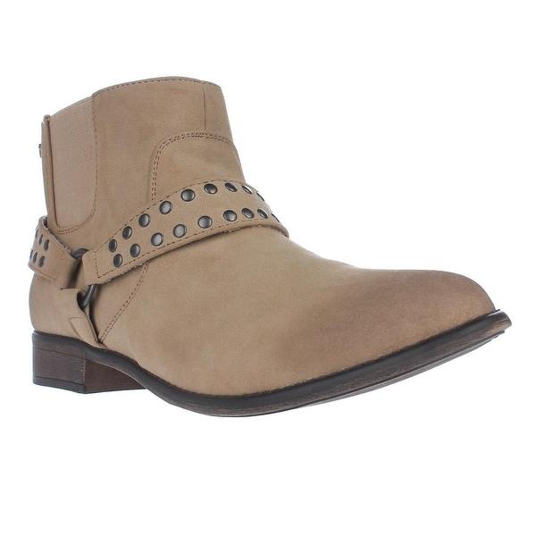 Roxy Weaver Western Harness Strap Ankle Booties, Tan - 10 us