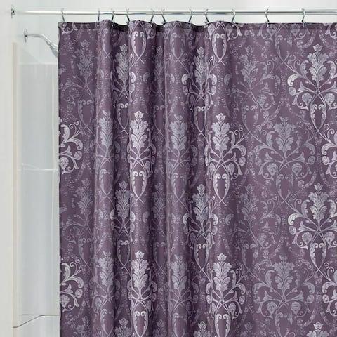 "Polyester Shower Curtain Vintage Purple Damask 72"" x 72"""
