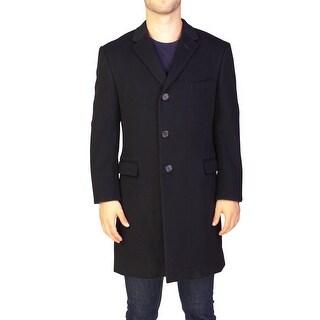 Yves Saint Laurent Men's Virgin Wool Trench Coat Jacket Black - 42