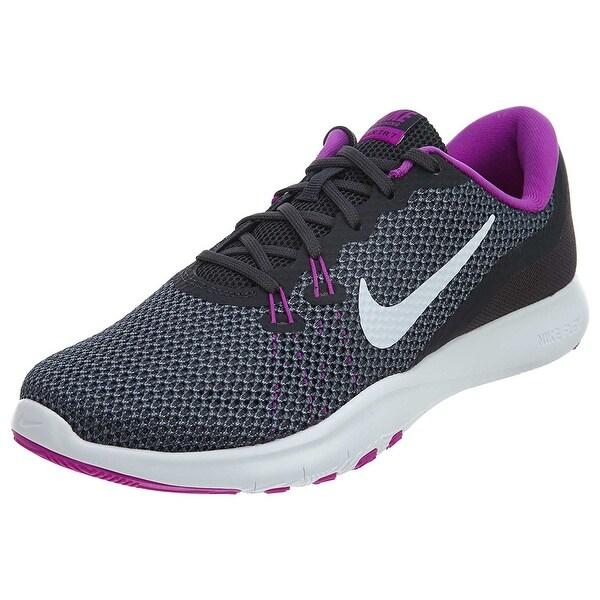 9b6d3dd67a5c Shop Women s Nike Flex TR 7 Training Shoe Anthracite White Dark Grey ...
