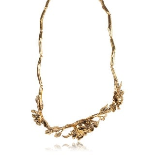 Roberto Cavalli Blossom Metal Gold Plated Belt