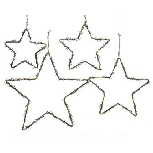 Glisten Pine Star Set of 4