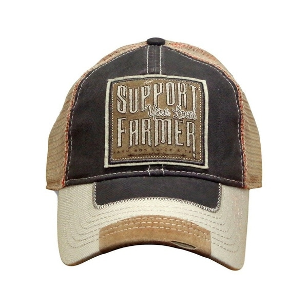 0e3ff8d4c640c Shop Farm Boy Western Hat Mens Support Your Local Farmer OS Khaki - Free  Shipping On Orders Over  45 - Overstock - 18821219