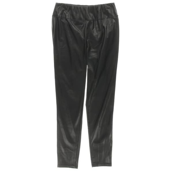9ab059b05f8e1b Shop Lauren Ralph Lauren NEW Black Womens Size 16W Plus Faux-Leather Pants  - Free Shipping On Orders Over $45 - Overstock - 18328874