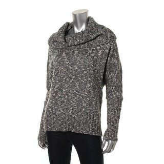 Soybu Womens Open Back Marled Pullover Sweater - M