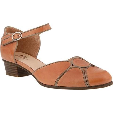 Spring Step Women's Lenna D'Orsay Shoe Mauve Leather
