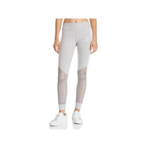 Puma Womens Invisible T7 Athletic Leggings Running Fitness - L