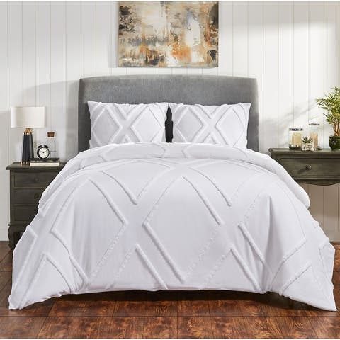 Fabstyles Arizona Chenille 3 Piece Comforter Set