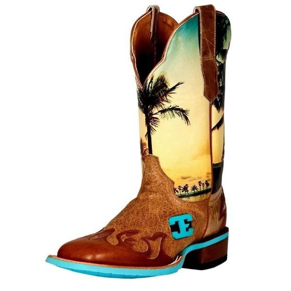 Cinch Western Boots Mens Edge Island Dreams Cowboy Tan
