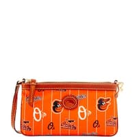 Dooney & Bourke MLB Baltimore Orioles Large Slim Wristlet (Introduced by Dooney & Bourke at $78 in May 2016)