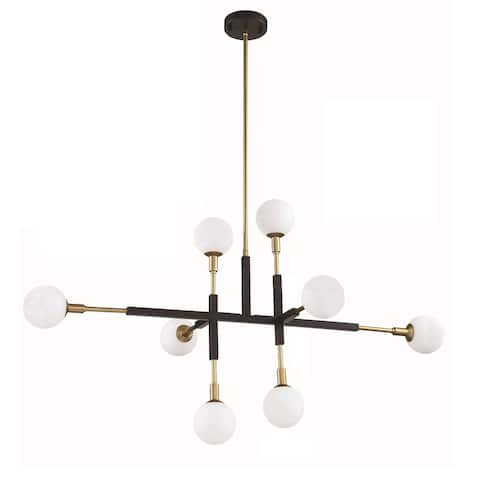 Ambience 8-Light Black and Brass Pendant