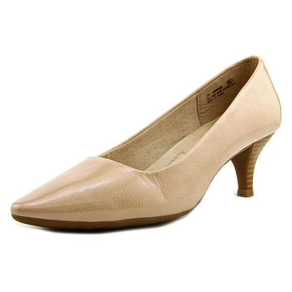 A2 By Aerosoles Foreward Women W Pointed Toe Patent Leather Nude Heels
