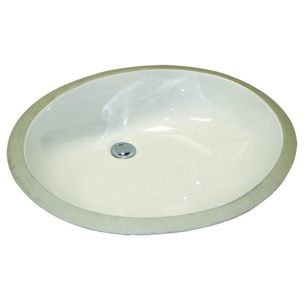 """Mirabelle MIRU1915 21-1/4"""" Porcelain Undermount Bathroom Sink with Overflow - White"""