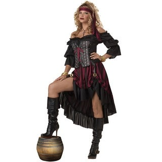California Costumes Pirate Wench Adult Costume - Black/Red