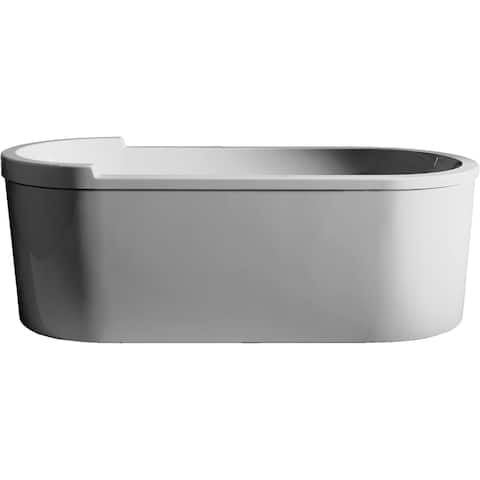 Duravit 700010000000090 Happy D.2 Freestanding Bathtub with Panel and Support Frame