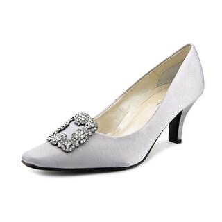 Caparros Pia Women Pointed Toe Canvas Silver Heels