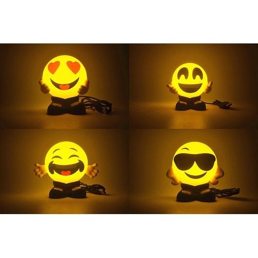 Set of 4 Emoji USB Charging Foggy Warm Lights - Bed Lamps - Night lights