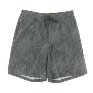 New Balance Mens Printed Lace-Up Board Shorts - L