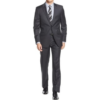 DKNY Mens Two-Button Suit Wool Slim Fit - 46r