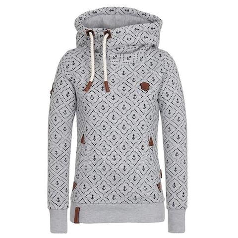 Printed Hooded Loose Sports Long-Sleeved Jacket Fleece Sweater Female