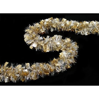 12' Sexy Holographic Gold & Silver Boa Christmas Tinsel Garland