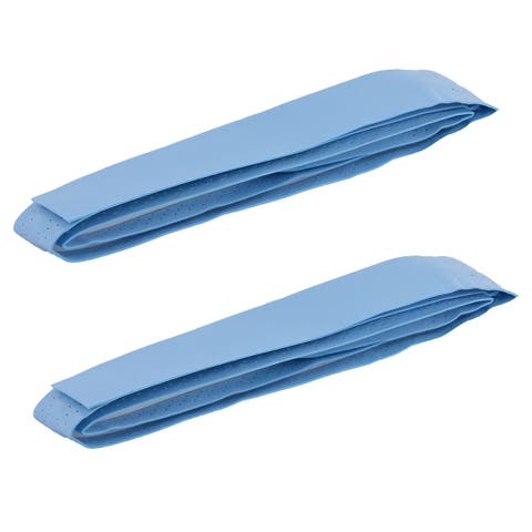 Outdoor Badminton Foam Self Adhesive Racket Handle Grip Tape Light Blue 2pcs