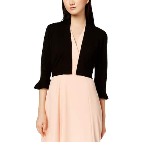 Calvin Klein Womens Shrug Sweater Lace Open Front