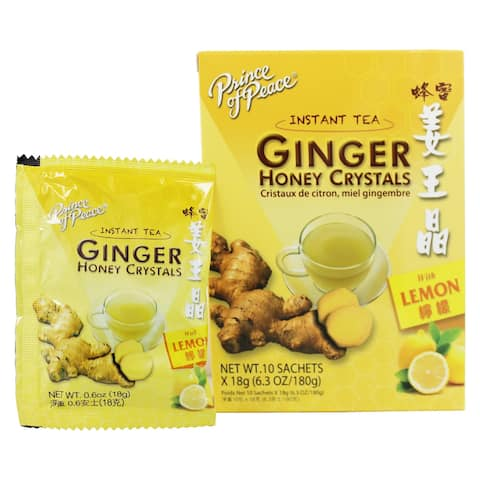 Prince of Peace - Instant Tea Ginger Honey Crystals with Lemon - 10