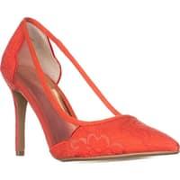 TS35 Natalia Pointed Toe Mesh Heels, Coral