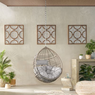 Adan Wicker Hanging Chair by Christopher Knight Home