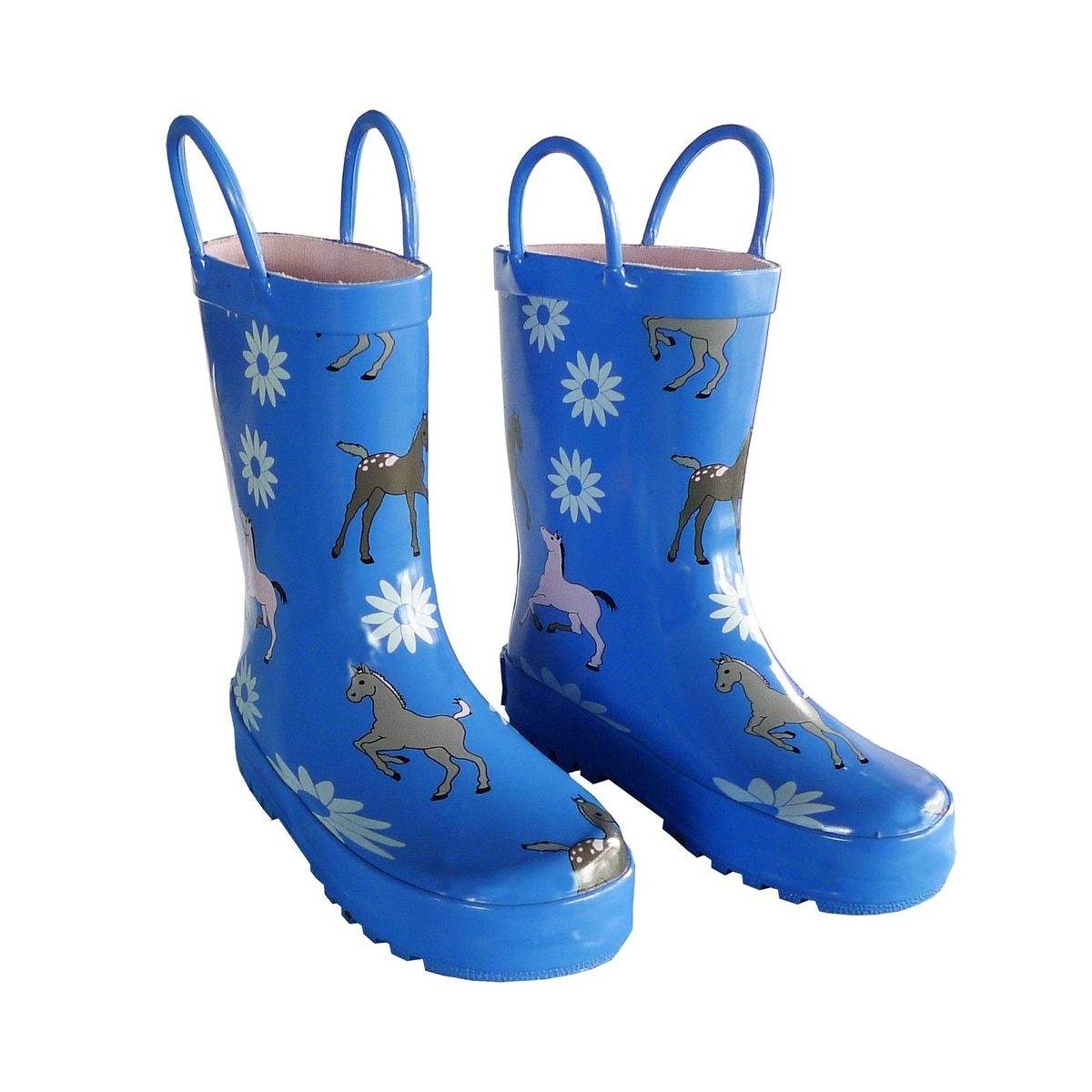 c86961e83 Shop Blue Pony Boys Girls Rain Boots 11-3 - Free Shipping On Orders Over  $45 - Overstock.com - 25599963