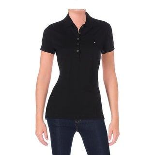 Tommy Hilfiger Womens Polo Top Pique Signature