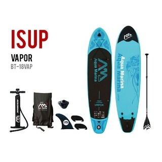 "Aqua Marina Vapor 10' 10"" SUP Inflatable Stand Up Paddle Board w/ Adjustable Paddle"