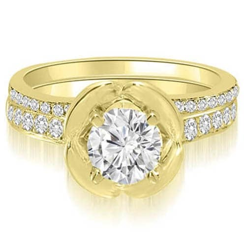 1.50 cttw. 14K Yellow Gold Round Cut Diamond Bridal Set