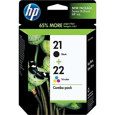 HP 21/22 Black and Tricolor Ink Cartridges Combo 2/Pack C9509BN
