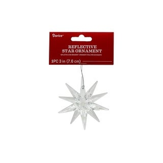 "Darice Ornament Reflective Star 3"" Clear"