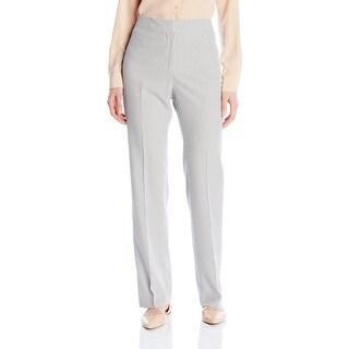 Kasper NEW White Black Women's Size 14 Stripe Seersucker Dress Pants