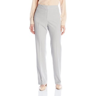 Kasper NEW White Charcoal Seersucker Women's Size 8 Casual Pants