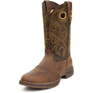 """Durango Western Boots Mens 12"""" Rebel Saddle Round Toe Sunset"""