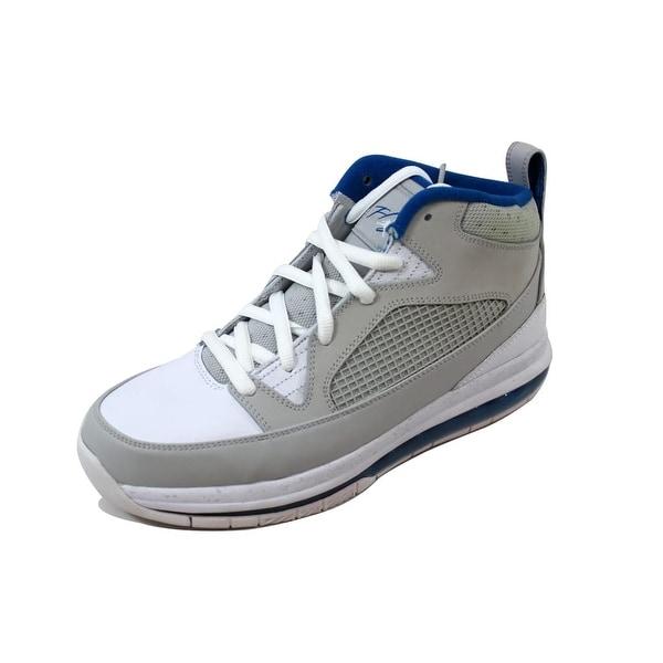 Nike Men's Air Jordan Flight 9 Max RST Neutral Grey/Military Blue-White 486875-006 Size 8