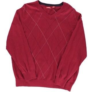 Izod Mens Knit Arglye Pullover Sweater