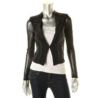 Material Girl Womens Juniors Long Sleeves Glitter Cardigan Top - XS