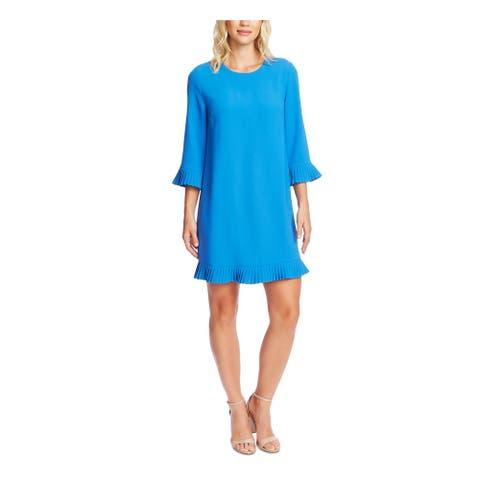 CECE Womens Blue Bell Sleeve Short Wear To Work Dress Size XL